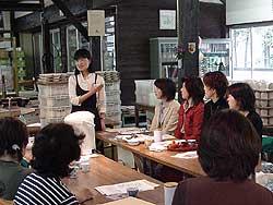 窯元工房「しん窯」で日本茶教室