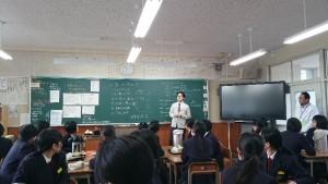 嬉野高校でお茶の淹れ方教室