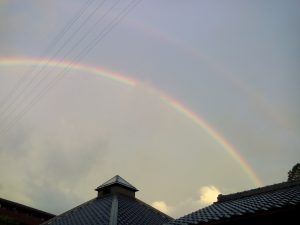 綺麗な虹がかかりました。